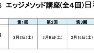 FX塾STARS エッジメソッド講座(全4回) 開催します!!